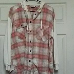 Flannel plaid long sleeve